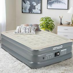 Queen Size Luxury Raised Air Mattress Inflatable Airbed Buil