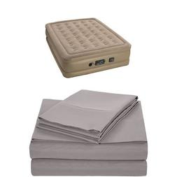 Insta-Bed Raised Air Mattress with Never Flat Pump - Queen a