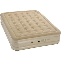 Raised Queen-size Airbed with External AC Pump by Serta