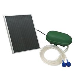 Sunnydaze Solar Pond Oxygenator Plus Air Pump Outdoor with B