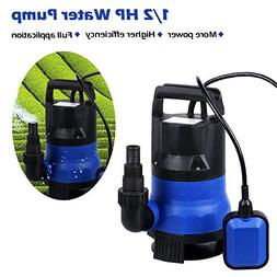 Voluker Submersible Sump Pump, 1/2 HP Water pump Clean/Dirty