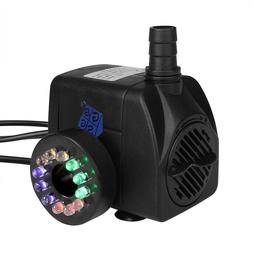submersible water pump with colorful led light
