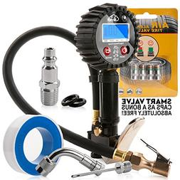 Digital tire inflator with pressure gauge 200 PSI air gauge