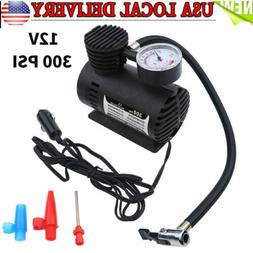 Tire Inflator Mini Car Air Pump Compressor Electric Portable