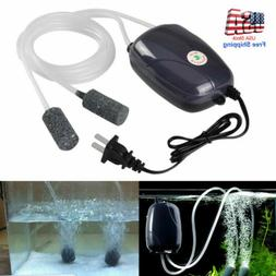 US Low Noise Silent Air Pump Aquarium Fish Tank Pump Hydropo